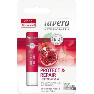 Balsam de buze cu rodie și argan Protect and Repair 4,5g Lavera