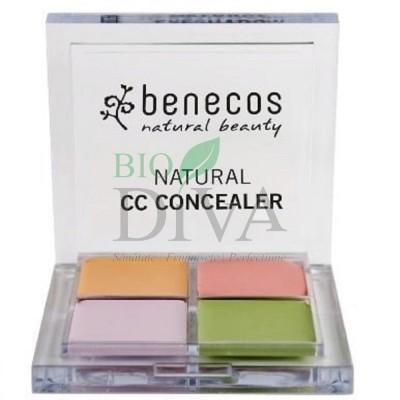 Corector bio multifuncțional CC Concealer 6g Benecos