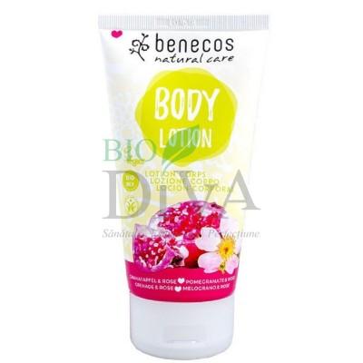 Loțiune de corp cu rodie și trandafiri 150ml Benecos