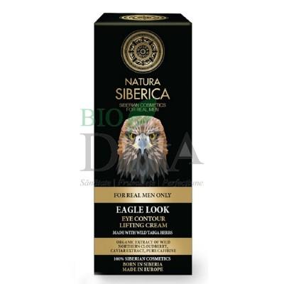 Cremă de ochi lifting cu plante siberiene și cafeină pentru bărbați Egle Look 30ml Natura Siberica