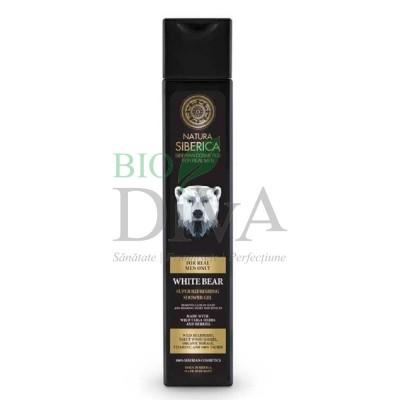 Gel de duș revigorant cu plante siberiene pentru bărbați White Bear 250ml Natura Siberica