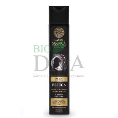 Șampon împotriva căderii părului cu caviar pentru bărbați Beluga 250ml Natura Siberica