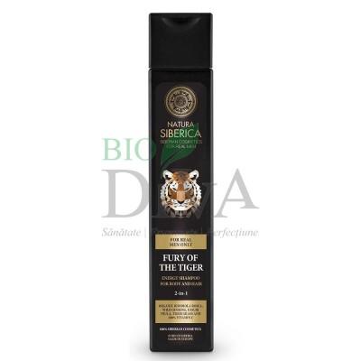 Șampon și gel de duș pentru bărbați Fury of the Tiger 250ml Natura Siberica