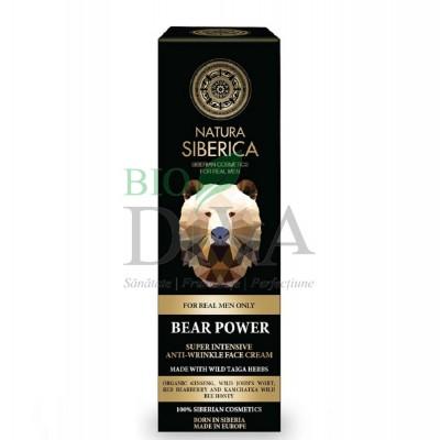 Cremă antirid intensivă cu plante siberiene pentru bărbați Bear Power 50ml Natura Siberica