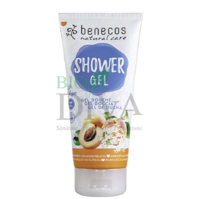 Gel de duș cu flori de soc și caise 200ml Benecos