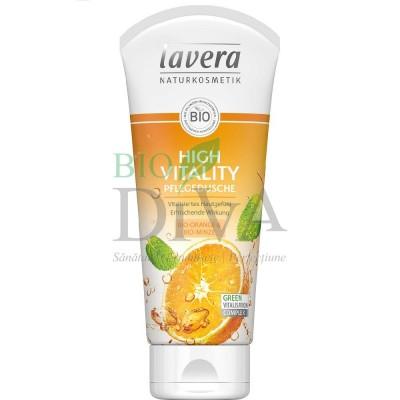 Gel de duș cu portocale și mentă High Vitality 200 ml Lavera