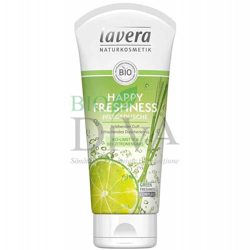 Gel de duș cu lime și citronella Happy Freshness 200 ml Lavera