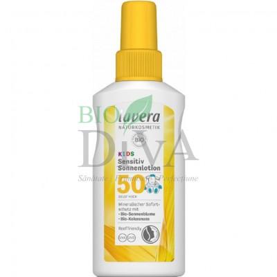Loțiune protecție solară FPS 50 pentru copii și bebeluși 100 ml Lavera