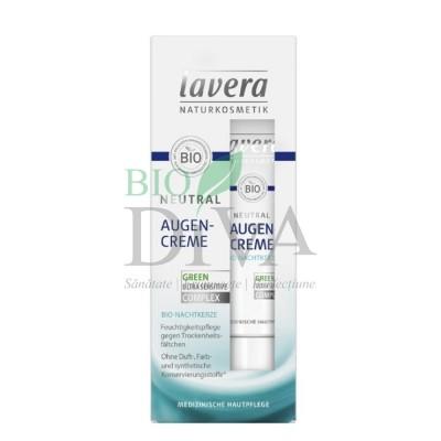 Cremă de ochi pentru ten sensibil, alergic și intolerant 15 ml Neutral Lavera