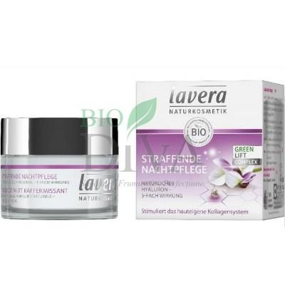 Cremă de noapte pentru fermitate cu fitocolagen, acid hialuronic și ulei de karanja 50 ml Lavera