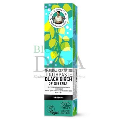 Pastă de dinți pentru albire Black Birch of Siberia Babuskha Agafia