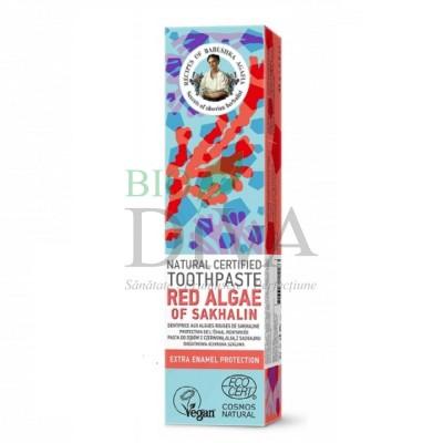 Pastă de dinți protecția smalțului Red Algae of Sakhalin 85 g Babushka Agafia