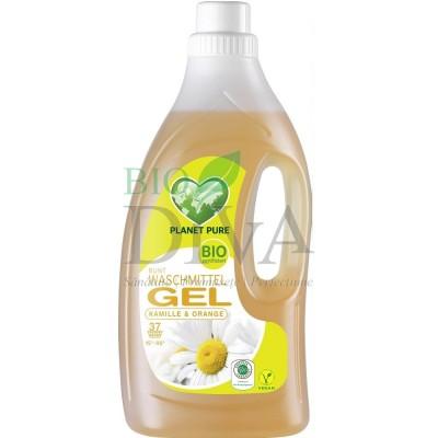 Detergent bio pentru rufe negre și colorate cu mușețel și portocale 1.5L Planet Pure