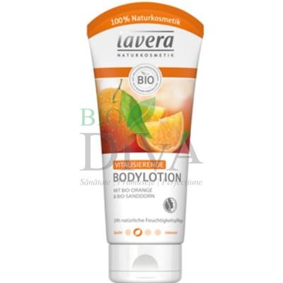 Loțiune de corp revitalizantă cu portocale și catină 200 ml Lavera