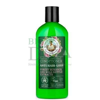 Balsam împotriva căderii părului cu brusture și urzică 260 ml Babushka Agafia