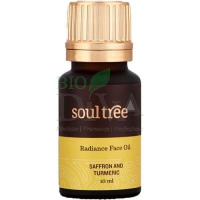 Ulei ayurvedic pentru luminozitatea tenului cu șofran și turmeric 10 ml Soultree