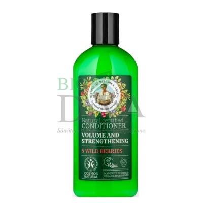 Șampon pentru volum și fortifiere cu 5 fructe de pădure Babushka Agafia