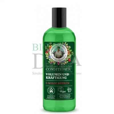 Balsam de păr pentru volum și fortifiere cu 5 fructe de pădure 260 ml Babushka Agafia