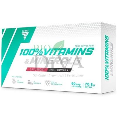 Vitamine și minerale cu 60 de capsule Trec Nutrition