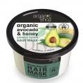 Mască de păr bio reparatoare cu miere și avocado 280 ml Organic Shop
