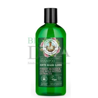 Șampon împotriva căderii părului cu brusture și urzică 260 ml Babushka Agafia