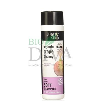 Șampon blând cu miere și struguri Grape Honey Organic Shop