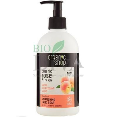 Săpun lichid nutritiv cu piersică și trandafir Rose Peach Organic 500 ml Shop