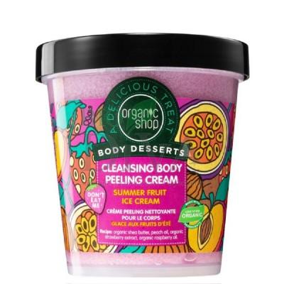 Peeling delicios pentru corp Summer Fruit Ice Cream Organic Shop