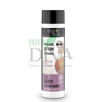 Balsam de păr cu miere și struguri Grape Honey 280 ml Organic Shop