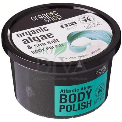Exfoliant de corp polish cu sare marină și alge Atlantic Algae Organic Shop