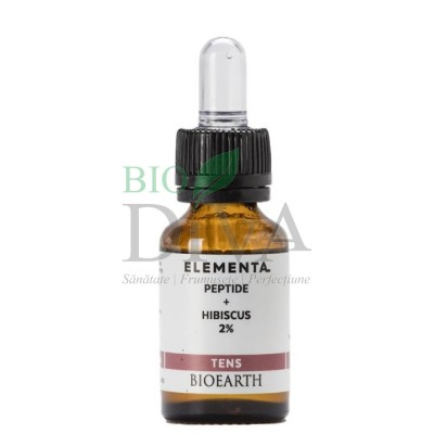 Peptide și hibiscus Beauty Booster Elementa 15 ml Bioearth