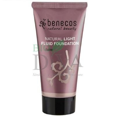 Fond de ten natural Light Fluid Dune (ten deschis) 30 ml Benecos