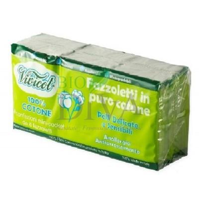 Servetele batistuțe din 100% bumbac pentru piele sensibilă Vivicot