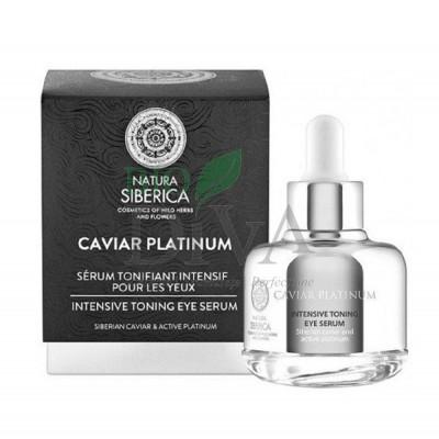 Serum tonifiant intensiv pentru ochi cu platină și caviar Caviar Platinum 30 ml Natura Siberica