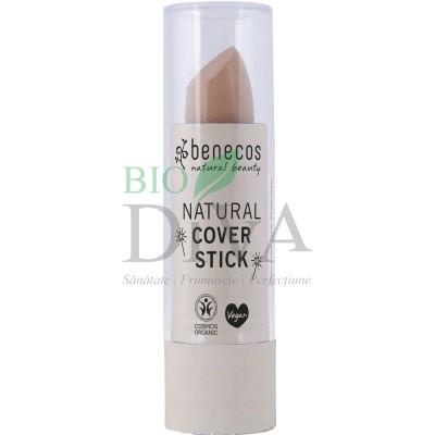 Stick corector bio pentru cearcăne și imperfecțiuni Beige 4,5 g Benecos