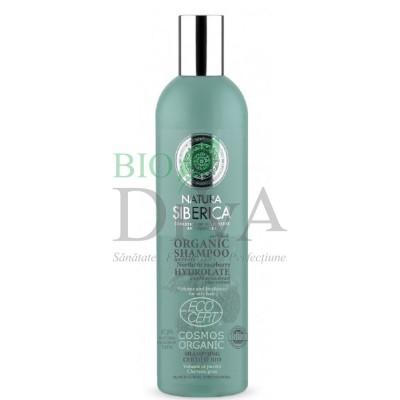 Șampon bio volum și prospețime pentru păr gras cu hidrolat de zmeur 400 ml Natura Siberica