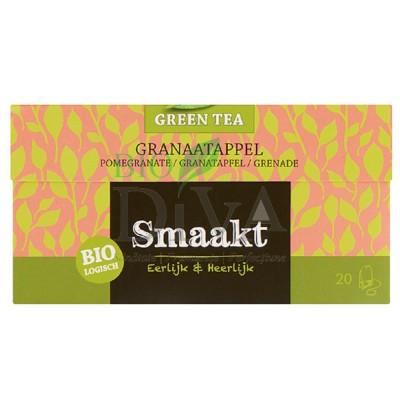 Ceai verde cu rodie Bio 20 de plicuri Smaakt