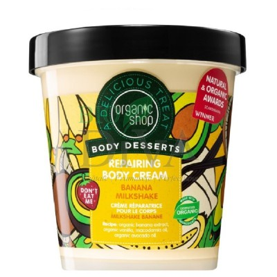 Cremă de corp delicioasă Banana Milkshake 450 ml Organic Shop