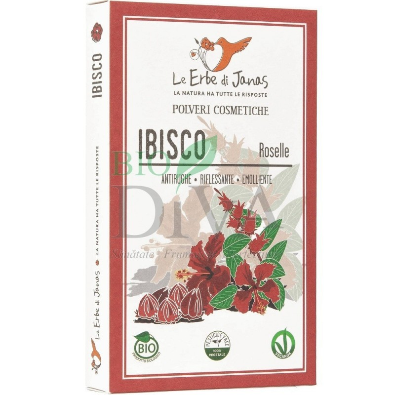 Pudră de hibiskus Jaswand 100 g Le erbe di Janas