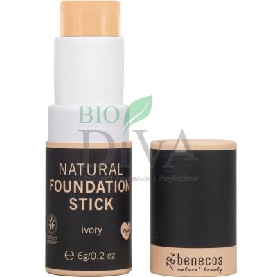 Fond de ten natural Foundation Stick Ivory (deschis) 6 g Benecos