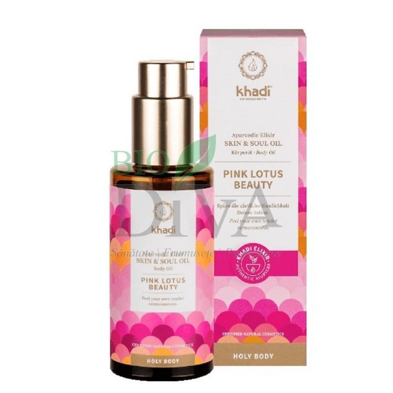 Ulei ayurvedic elixir Lotus Roz Skin & Soul Khadi