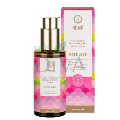 Ulei elixir ayurvedic de trandafir Rose Love Khadi