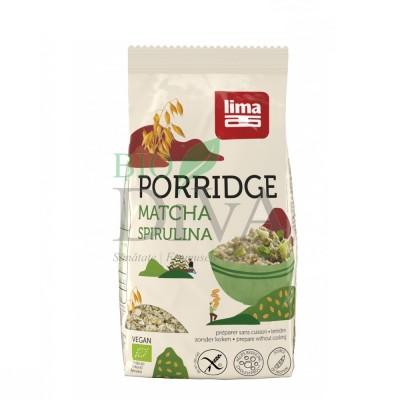 Porridge Express cu matcha și spirulină fără gluten Lima
