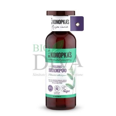 Șampon bio volum pentru toate tipurile de par, 500 ml - Dr. Konopka