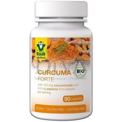 Turmeric Curcuma capsule Forte Raab Vital Food