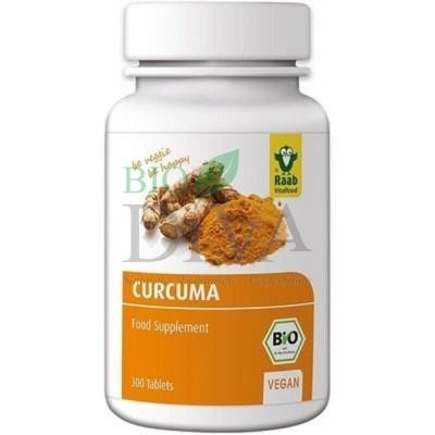 Turmeric Curcuma tablete Raab Vitalfood