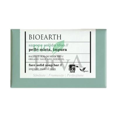 Săpun cu salvie și neem pentru ten Bioearth