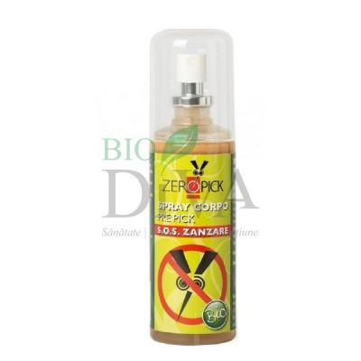 Spray bio împotriva înțepăturilor de țânțari și insecte 100 ml Zeropick