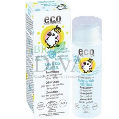 Cremă bio protecție solară bebe și copii FPS 50+ 50 ml Eco Cosmetics