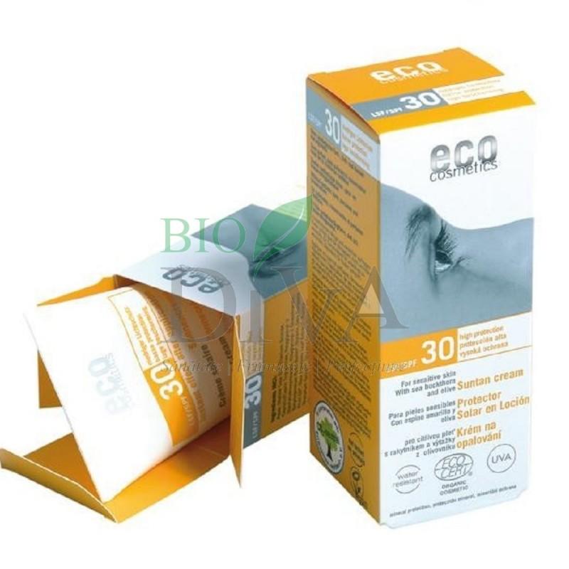 Cremă bio protecție solară înaltă SPF 30 rezistentă la apă Eco Cosmetics